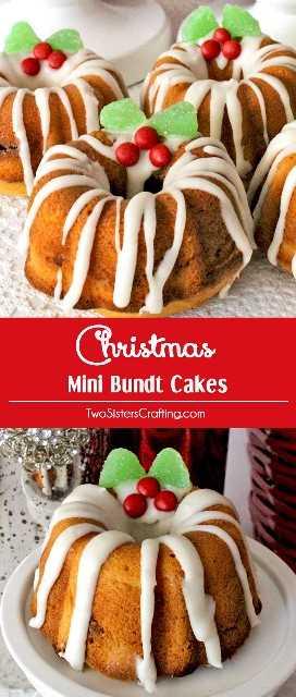 """Pastelitos Navideños Mini Bundt: un delicioso postre navideño hecho de pastel delicioso deliciosamente húmedo y un relleno de nuez y canela. ¡Este es definitivamente el mejor Pastel de Navidad del que nunca hayas escuchado! Siempre es un favorito de la multitud en una fiesta de Navidad y sería un gran regalo de Navidad de bricolaje. ¡Síguenos para obtener más ideas geniales de comida navideña! """"Width ="""" 680 """"height ="""" 1600 """"data-pin-description ="""" Mini tartas navideñas de Bundt: un delicioso postre navideño hecho de bizcochos deliciosamente húmedos y un relleno de nuez y canela. ¡Este es definitivamente el mejor Pastel de Navidad del que nunca hayas escuchado! Siempre es un favorito de la multitud en una fiesta de Navidad y sería un gran regalo de Navidad de bricolaje. ¡Síganos para obtener más ideas geniales de comida navideña! """"Srcset ="""" https://juegoscocinarpasteleria.org/wp-content/uploads/2019/04/1554754854_513_Tortas-De-Navidad-Mini-Bundt.jpg 680w, https: // www.twosisterscrafting.com/wp-content/uploads/2015/10/christmas-mini-bundt-cakes-branded-600x1412.jpg 600w, https://www.twosisterscrafting.com/wp-content/uploads/2015/10 /christmas-mini-bundt-cakes-branded-435x1024.jpg 435w, https://www.twosisterscrafting.com/wp-content/uploads/2015/10/christmas-mini-bundt-cakes-branded-128x300.jpg 128w """"tamaños ="""" (ancho máximo: 680px) 100vw, 680px """"/></p> <p>** Esta publicación contiene enlaces de afiliados, pero solo recomendamos productos que realmente usamos y nos gustaron. Gracias por apoyar a Two Sisters!</p> </pre> <p></p> </div>"""