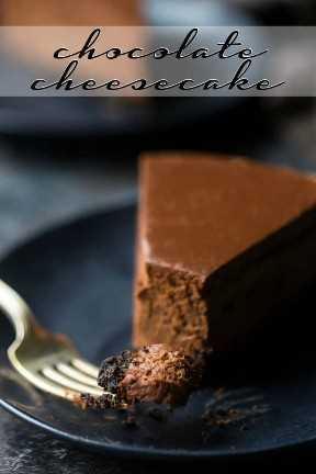 Pastel de queso de chocolate de Filadelfia