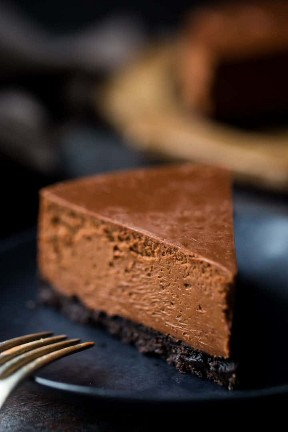 Receta de cheesecake de chocolate al horno