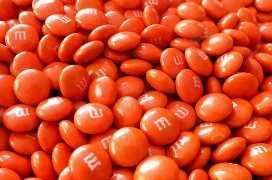 Naranja m & m's