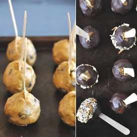 Lote de palitos de masa de galletas de calabaza para nuestro resumen de recetas de Acción de Gracias