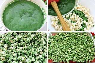 Hacer un segundo lote de maíz verde de caramelo de Navidad.
