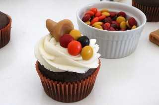 Cupcakes de Caramelcopia de Acción de Gracias