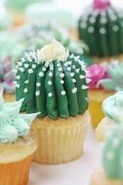 ¡Cómo hacer un cactus de barril con crema de mantequilla!