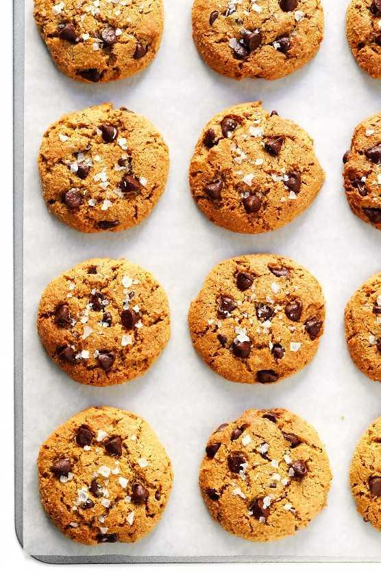 Receta de galletas de chispas de chocolate veganas sin gluten