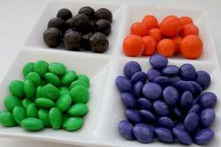 Candy Mix-Ins para Trick or Treat Palomitas de Halloween