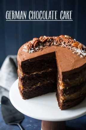 Receta alemana tradicional de la torta de chocolate