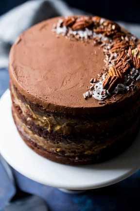 Receta de pastel de chocolate alemán húmedo