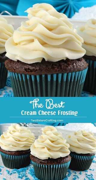 The Best Cream Cheese Frosting es la versión perfecta de este clásico frosting. Es súper delicioso y muy fácil de hacer. Dulce, cremoso y muy rico, tu familia te rogará que hagas esta crema de queso glaseada una y otra vez. ¡Pincha esta gran idea de Frosting para más tarde y síguenos para obtener más recetas de Frosting! #CreamCheeseFrosting #BestFrosting #BestCreamCheeseFrosting #Buttercream #CreamCheese #Frosting #TwoSistersCrafting