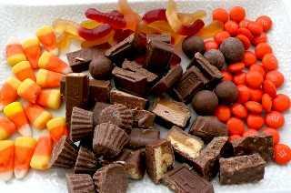 Sobras de palomitas de caramelo de Halloween