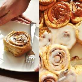 Plato y bandeja para hornear rellenos con panecillos de pan de trigo con miel durante la noche
