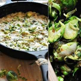 Pan de Creamy Brussels Sprout & Shallot Dip para un delicioso aperitivo que satisface a la multitud