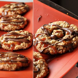 Samoas de caramelo de borbón sin gluten para un delicioso obsequio