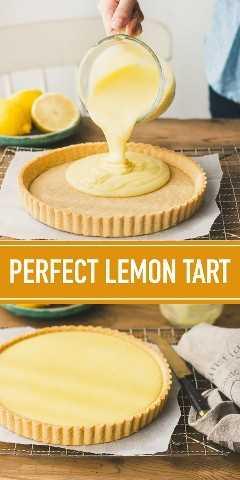 Una tarta de limón al estilo francés tradicional con relleno de crema de limón cremosa y de ensueño.