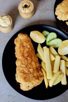 pescado y papas fritas autentico
