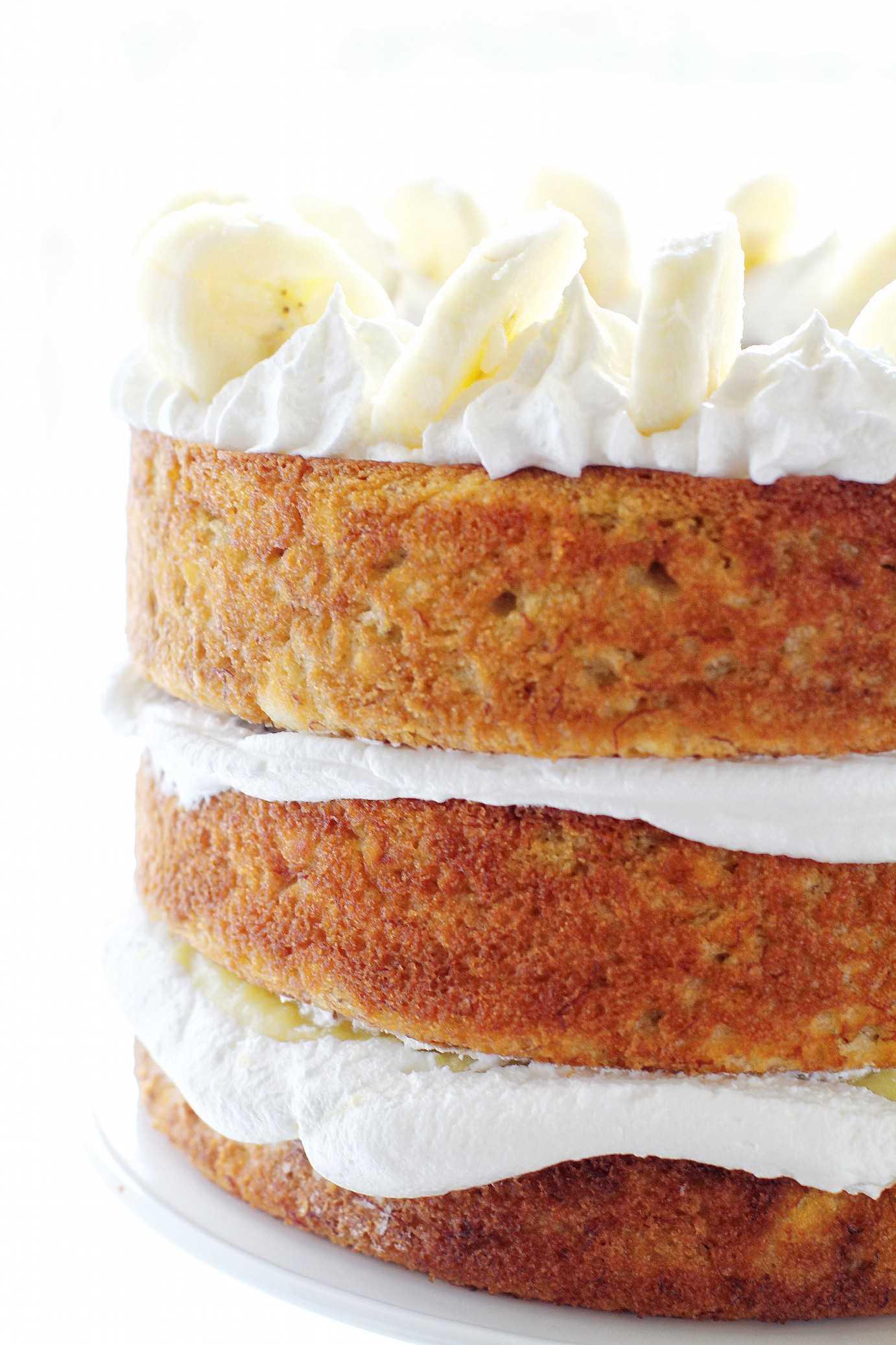 Pastel de plátano en capas