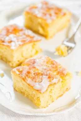 Bizcocho de piña con glaseado de piña - ¡Rápido, fácil, de un tazón, sin mezclador, pastel de cero es más fácil que una mezcla! El esmalte se empapa en cada pulgada y estarás en la jugosa piña ¡EL CIELO!