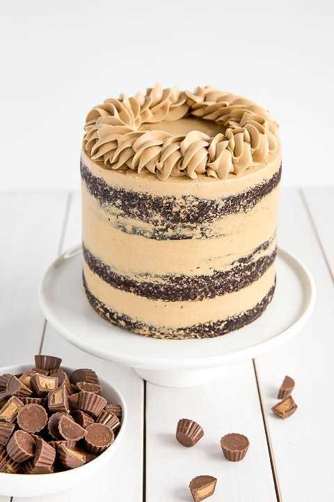 Pastel de chocolate con mantequilla de maní