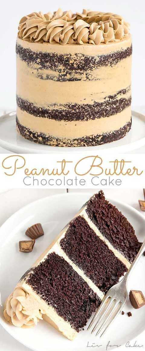 Collage de pastel de chocolate con mantequilla de maní