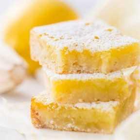 Mejor receta de barras de limón