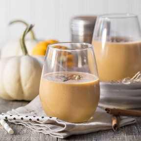 Pumpkin Spice Latte Smoothie: si te gustan los PSL, entonces te ENCANTARÁ este batido. ¡Hecho con calabaza real + una patada de espresso que realmente hará que empiece tu mañana! batidos de bebidas alimenticias