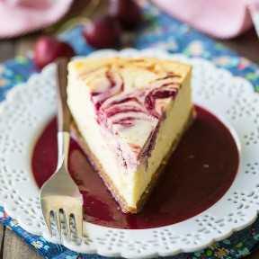 La mejor receta de pastel de queso con cereza