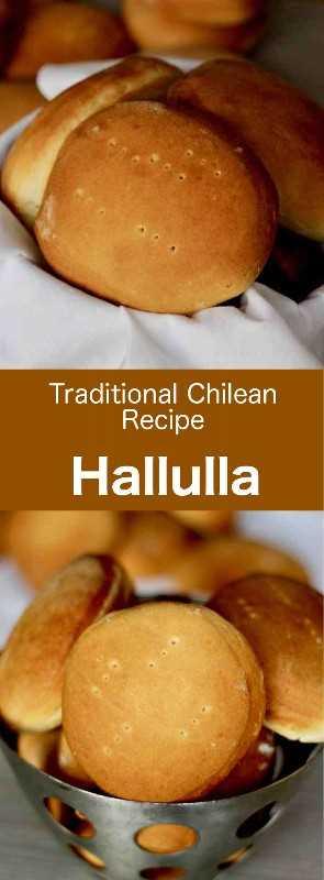 Hallulla es uno de los panes más populares de Chile. Es un pan redondo y plano que también se encuentra en las calles de Bolivia y Ecuador. #Chile #ChileanCuisine #ChileanRecipe #ChileanFood #WorldCuisine # 196flavors