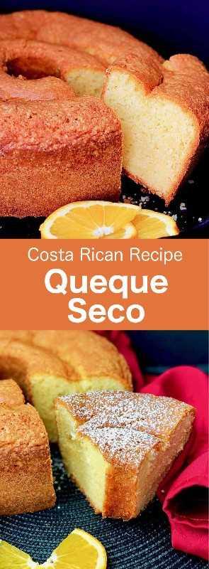 Queque seco es un delicioso pastel esponjoso con sabor a naranja que es popular en Costa Rica, así como en muchos países latinoamericanos. #CostaRica #CostaRicanCuisine #CostaRicanFood #CostaRicanRecipe #WorldCuisine # 196flavors