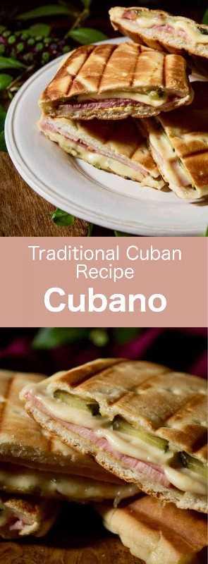 Cubano es un sándwich prensado con cerdo asado, jamón, pepinillos y queso, popularizado por inmigrantes cubanos en Florida en el siglo XIX. #Cuba #CubanCuisine #CubanRecipe #CubanFood #Caribbean #CaribbeanCuisine #CaribbeanRecipe #CaribbeanFood #WorldCuisine # 196flavors