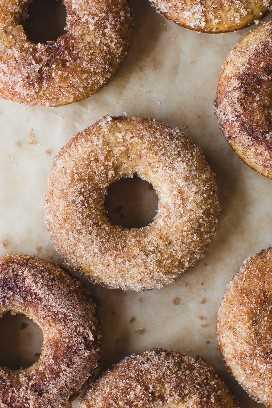 Donuts de sidra de manzana al horno