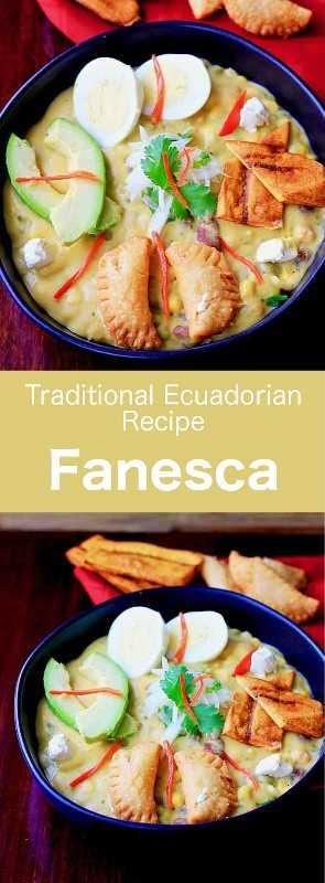 Fanesca es una sopa láctea tradicional de Ecuador, típica de la Semana Santa, preparada con bacalao, calabaza, calabaza y varias legumbres. #Ecuador #EcuadorComida #EcuadorianCuisine #EcuadorianRecipe #WorldCuisine # 196flavors
