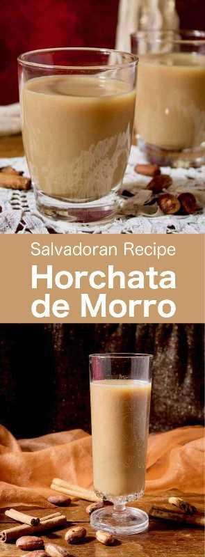 A Horchata de morro é uma bebida salvadorenha popular, feita a partir de uma mistura de especiarias e sementes como morro, cacau, gergelim, amendoim e outros. #CentralAmericanCuisine #CentralAmericanRecipe #SalvadoranCuisine #SalvadoranRecipe #WorldCuisine # 196 sabores