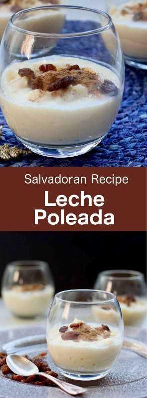 Leche poleada es un postre lácteo tradicional de El Salvador con sabor a canela y vainilla que también puede servir de base para otras recetas. #CentralAmericanCuisine #CentralAmericanRecipe #SalvadoranCuisine #SalvadoranRecipe #WorldCuisine # 196flavors