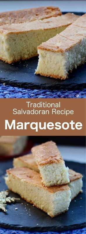 Marquesote es un delicioso pastel parecido a un tradicional bizcocho genovés, típico de El Salvador, pero también de México y Honduras. #CentralAmericanCuisine #CentralAmericanRecipe #SalvadoranCuisine #SalvadoranRecipe #WorldCuisine # 196flavors