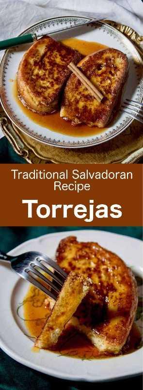 Torrejas son la deliciosa versión latinoamericana de la tostada francesa. Tradicionalmente se sirven con sirope de panela y varias especias. #CentralAmericanCuisine #CentralAmericanRecipe #SalvadoranCuisine #SalvadoranRecipe #WorldCuisine # 196flavors
