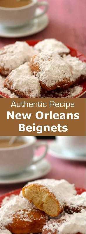 Un beignet de Nueva Orleans es una especialidad de origen francés que se sirve como un pedazo cuadrado de 2 pulgadas de masa frita que está cubierta generosamente con azúcar glas. #NewOrleans #MardiGras #Carnival # 196flavors