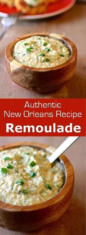 La salsa remoulade es un condimento que se originó en Francia y ahora es popular en Louisiana. A menudo se sirve con pescado, marisco o carne fría. #sauce #NewOrleans #Louisiana #condiment # 196flavors