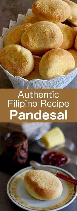 Pandesal o pan de sal es el famoso panecillo de Filipinas. Es aireado y ligeramente dulce. #Philippines # 196flavors