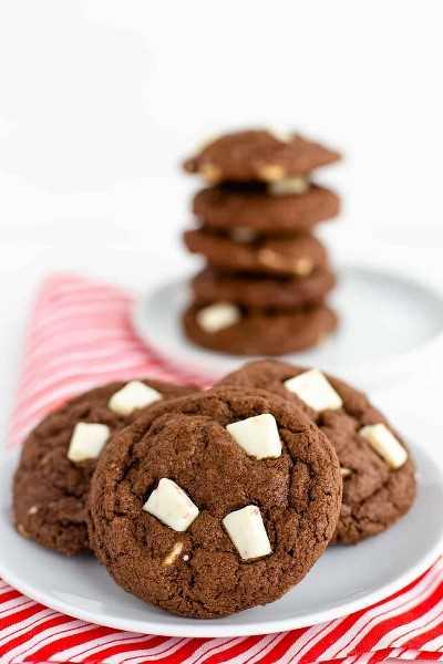 Biscoitos de menta com chocolate | Eu sou um padeiro