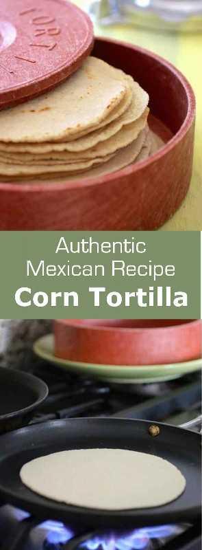 Las tortillas de maíz son un alimento básico en México y América Central. Se pueden usar para hacer tacos, enchiladas o para freír para hacer chips de tortilla de maíz. #mexico #bread # 196flavors