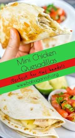 Mini pollo Quesadillas pinterest imagen