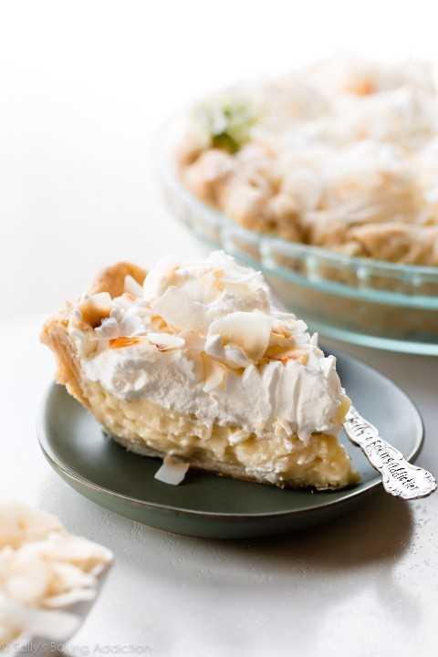 Pastel de crema de coco