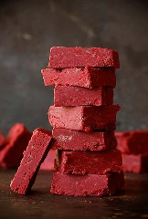 Receta Fudge De Terciopelo Rojo