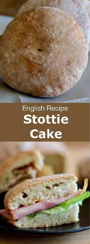 La torta stottie (stotty) es un pan plano que se origina en Newcastle, en el noreste de Inglaterra, donde se considera el poderoso símbolo de su identidad. #UnitedKingdom #EnglishCuisine #BritishCuisine #EnglishFood #BritishFood #EnglishRecipe #BritishRecipe #WorldCuisine # 196flavors