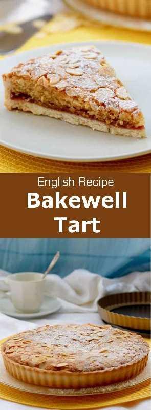 La tarta Bakewell es una tarta deliciosa con mermelada de frambuesa y frangipane. Es una receta clásica tradicional de Inglaterra. #UnitedKingdom #EnglishCuisine #BritishCuisine #EnglishFood #BritishFood #EnglishRecipe #BritishRecipe #WorldCuisine # 196flavors