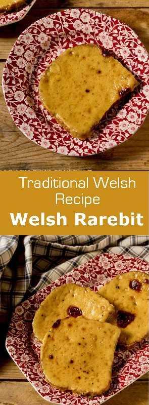 Webarsh rarebit o Welsh rabbit es un plato galés preparado con queso cheddar, mostaza y cerveza, que tradicionalmente se sirve en una rebanada de pan tostado a la parrilla. #UnitedKingdom #Wales #EnglishCuisine #BritishCuisine #WelshCuisine #EnglishFood #BritishFood #WelshFood #EnglishRecipe #BritishRecipe #WelshRecipe #WorldCuisine # 196flavors