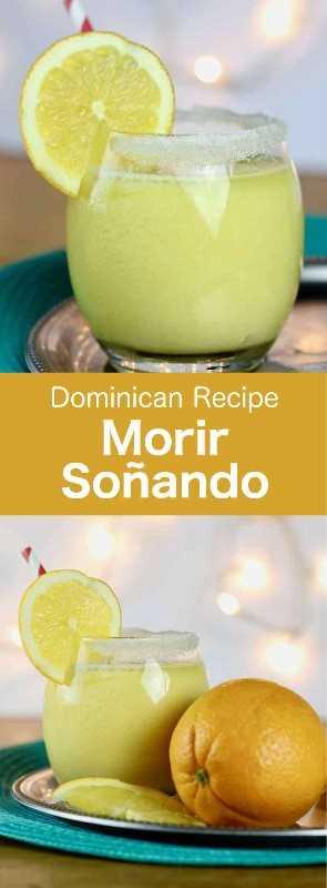 Morir Soñando es una bebida tradicional dominicana preparada con jugo de naranja fresco, azúcar de caña, leche y hielo picado. #Dominican #DominicanCocktail #DominicanDrink #DominicanBeverage #CaribbeanDrink #WorldCuisine # 196flavors