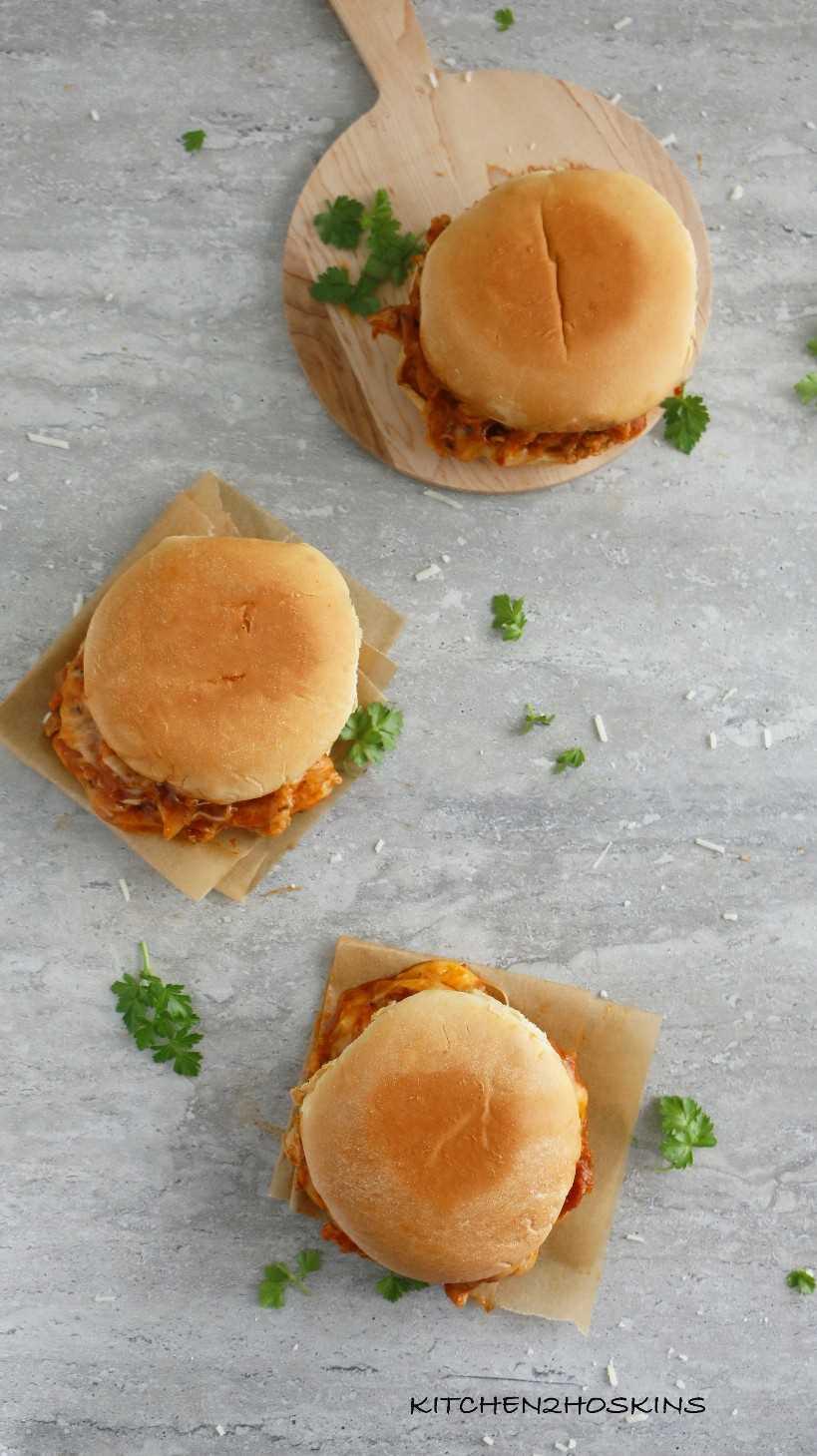 sándwiches de pollo parmesano olla instantánea