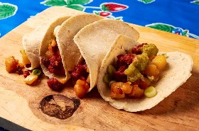 Tacos De Chorizo De Patata