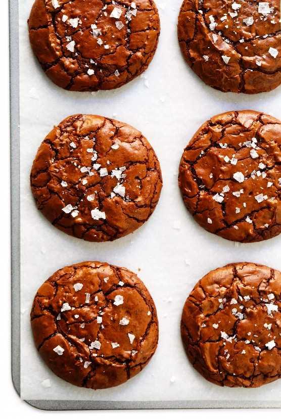Galletas Brownie De Chocolate Con Sal